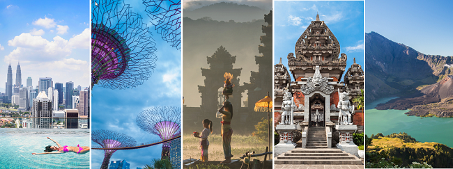 Bali, Lombok, Surabaya, Singapore, Jakarta and Kuala Lumpur in one trip from Sweden from €513!