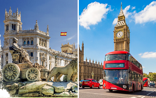 London, Nantes, Gran Canaria and Madrid from Bratislava only €87!