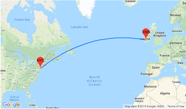 Map Of Ireland To New York.Late August Cheap Non Stop Flights From New York To Ireland For
