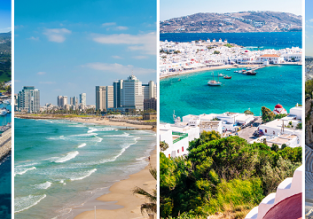 Cyprus, Israel, Athens and Mykonos Island in one trip from Vienna for €123!