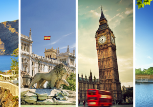 4 in 1 trip from Prague! London, Madrid, Paris and Tenerife for €82!