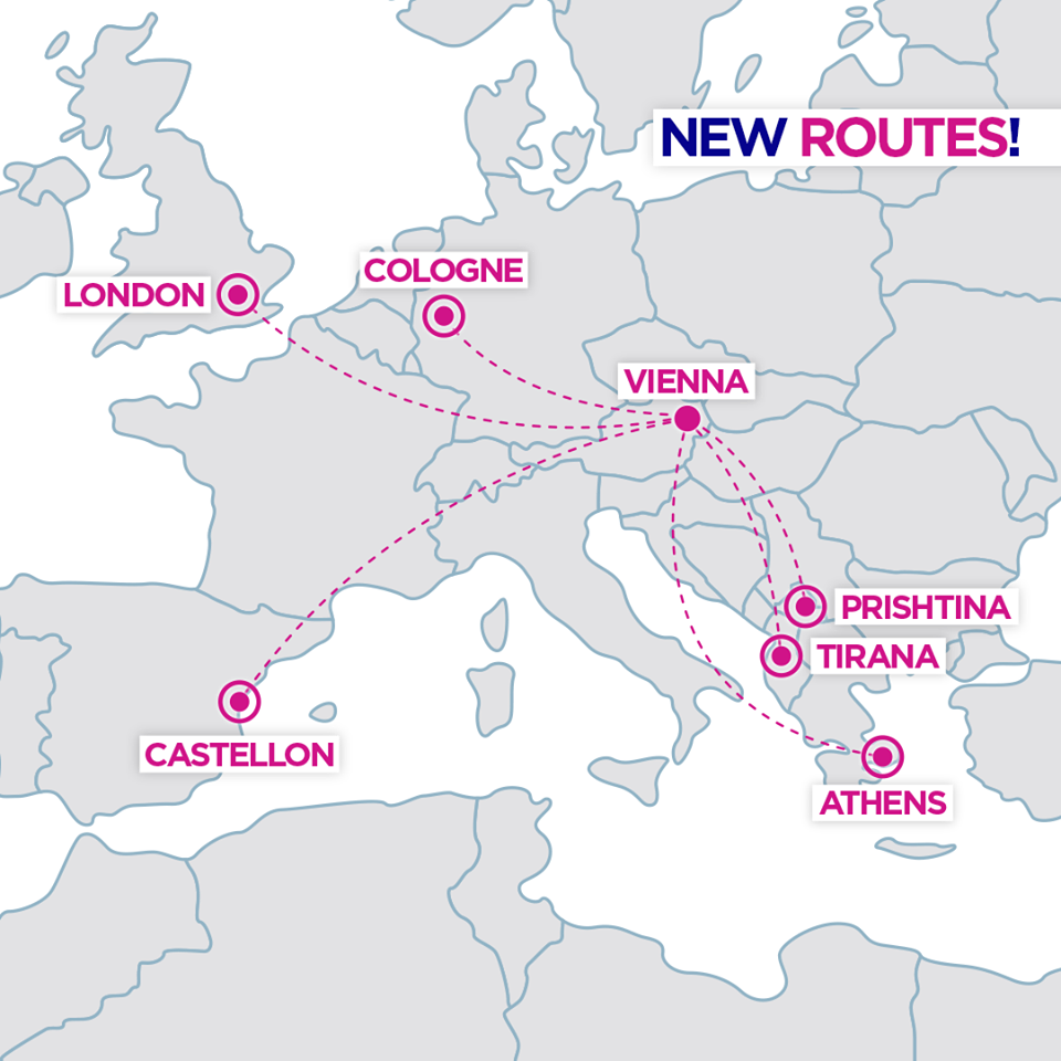 Wizzair Announces Six New Routes From Vienna