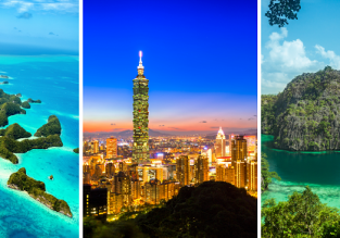 3 in 1: Prague to Palau/Guam, Taiwan and Palawan (Philippines) in one trip from only €654!