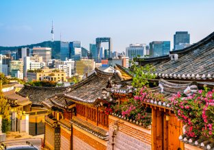 Cheap full-service flights from Frankfurt to Seoul or Busan, South Korea from only €366!