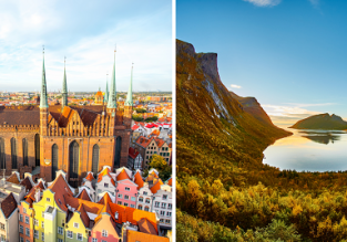 Late summer! 2 in 1: Vienna to Gdansk, Poland and Tromso, Norway (above the Arctic Circle) from only €49!