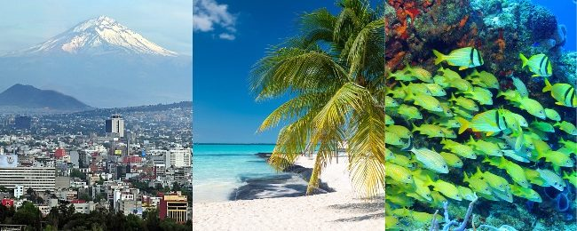 High Season! Cancun, Cozumel and Mexico City in one trip from Amsterdam from only €396!