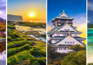 4 in 1: Budapest to Seoul, Jeju Island, Osaka and Okinawa in one trip for only €426!
