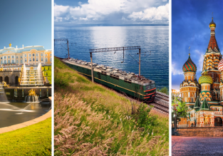 3 in 1: London to St. Petersburg, Lake Baikal and Moscow + Trans Siberian Railway in one trip for only £196!