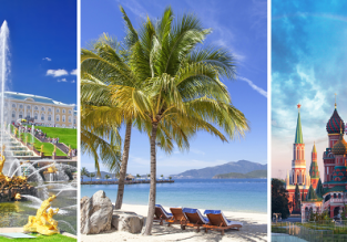 3 in 1: London to St. Petersburg, Nha Trang (Vietnam) and Moscow in one trip for only £344!