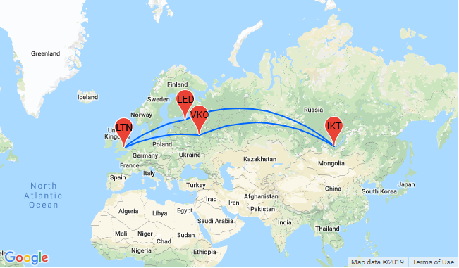 3 in 1: London to St. Petersburg, Lake Baikal and Moscow + Trans ...