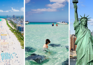 New York, Miami and Grand Cayman Islands in one trip from London for £475!