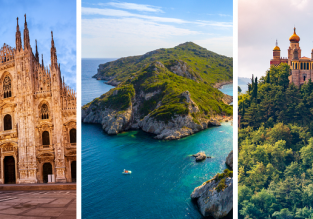 Milan, Bologna and Corfu in one trip from Prague for just €73!