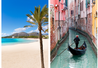 5 in 1! Venice, Marrakech, Fez, Seville and Majorca in one trip from Stuttgart just €86!