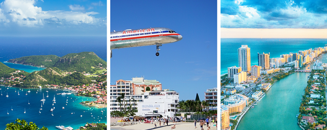 Paris, Guadeloupe, Sint Maarten and Florida in one trip from London for £449!