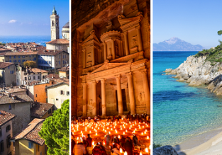 Italy, Malta, Jordan, Greece and Hungary in one autumn trip from Gothenburg just €71!