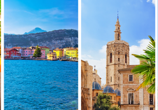 4 in 1 from Stockholm! Pisa, Fez, Valencia and Milan (Bergamo) for €66!