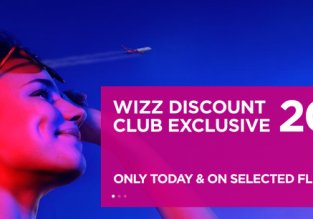 Wizz Air Sale: 20% off on all flights!