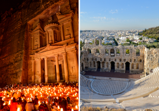 2 in 1 from London: Greece and Jordan for just £28