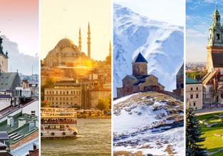 Ukraine, Turkey, Georgia and Poland in one trip from London for £95!