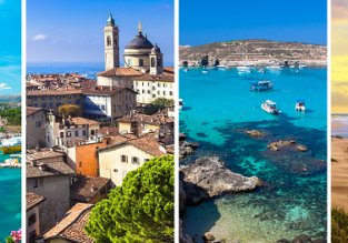 4 in 1 from Stockholm: Malta, French Riviera, Morocco and Italy for €54