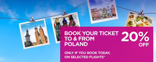 Wizz Air SALE: 20% off for flights from and to Poland! Cheap flights from just €9 one-way or €19 return!
