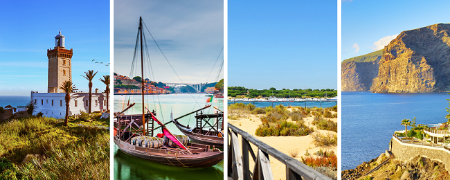 4 in 1 from Dusseldorf: Morocco, Tenerife, Seville and Porto in one trip for €64!