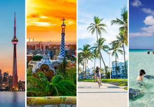 4 in 1: Barcelona, Miami, Grand Cayman and Toronto from London just £465