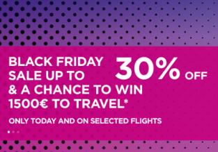 Wizz Air Black Friday Sale 2019: 30% off on selected flights!