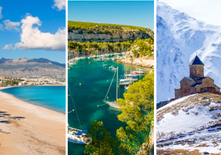 3 in 1 from London: Spain, France and Georgia for £38!