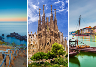 3 in 1 from New York: Madeira, Porto and Barcelona for $261