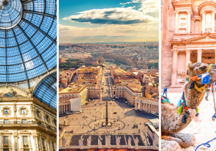 3 in 1 from Copenhagen: Jordan, Rome and Milan for just €57