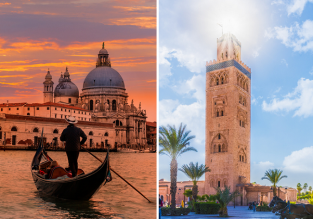 2 in 1 from London: Venice and Marrakech for just £28!