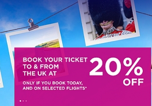 Wizz Air SALE! 20% off for flights to & from the UK! Open to everyone!