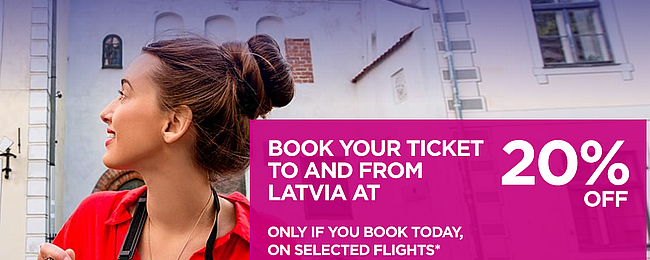 Wizz Air SALE! 20% off for flights to & from Latvia! Open to everyone!