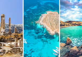 3 in 1 from Bristol: Malta, Cyprus and Jordan for just £47