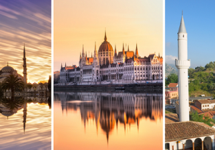 3 in 1 from London: Istanbul, Tirana and Valentine's Day in Budapest for £86