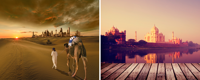 2 in 1: London to both Kuwait and India for just £311!