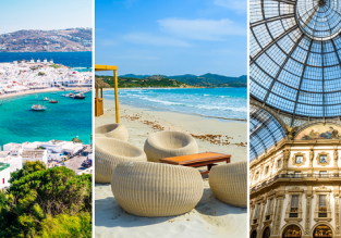 3 in 1 from London: Ibiza, Milan and Mykonos Island for just £52