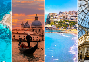 4 in 1 from Prague: Venice, Malta, Bari and Milan for €70