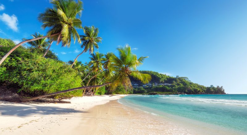ST Beautiful Anse Takamaka beach on Seychelles NEW
