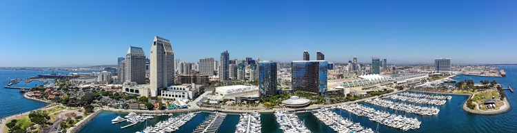 NEW 750px ST San Diego California aereal view