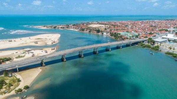 ST NEW Fortaleza Brazil. Jos%C3%A9 Martins Rodrigues Bridge under the Cear%C3%A1 River