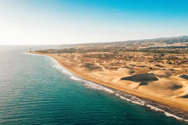 ST Aerial Maspalomas dunes view on Gran Canaria Ingus Kruklitis