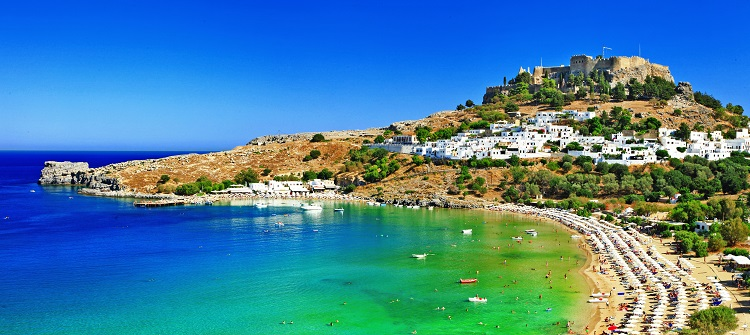 PEAK SUMMER! 7 nights at very well-rated hotel in Rhodes, Greece + cheap flights from Germany for only €183!