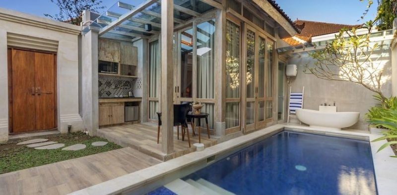 Autumn Super Cheap 62 M Villa With Private Pool At 4 18 Suite Villa Loft Kuta Bali From Only 20 22