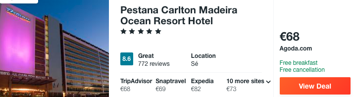 cheap hotels in madeira