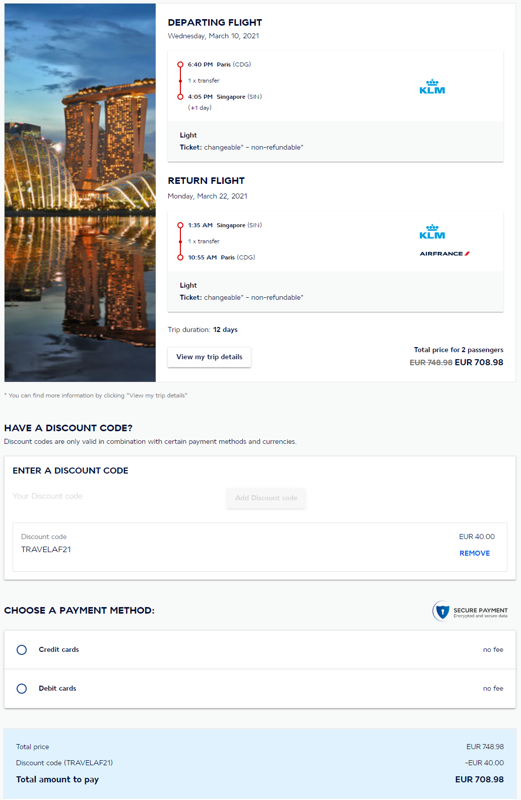 Air France Promo Code 2020