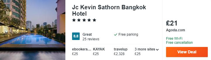 Jc Kevin Sathorn Bangkok Hotel