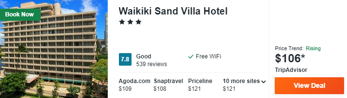 Waikiki Sand Villa Hotel