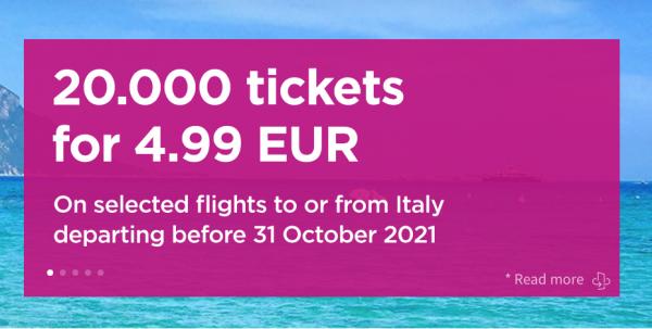 Wizz promo Italy
